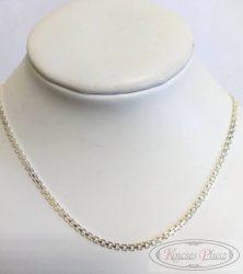 Ezüst lánc kifekvős 45 cm