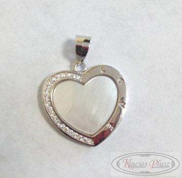 Ezüst medál szív