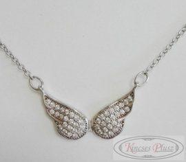 Ezüst lánc angyalszárnyas medállal 45+3 cm