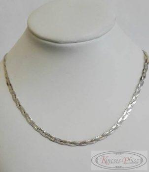 Ezüst fonott kifekvős lánc 45 cm
