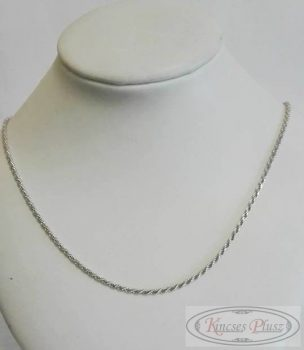 Ezüst csavart női lánc 50 cm