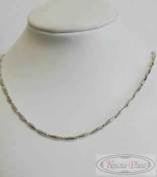Ezüst hosszú szemes lánc 50 cm