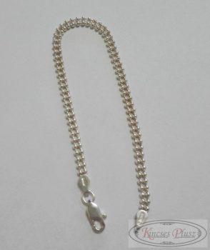 Ezüst bogyós karlánc 18 cm