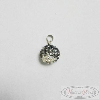 Ezüst medál fekete-fehér köves  gömb