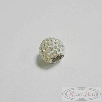 Ezüst fehér köves csúszó medál