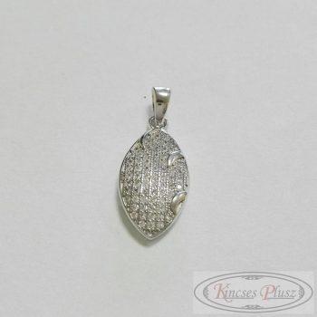 Ezüst ródiumos, fehér köves medál