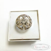 Ezüst gyűrű áttört mintával 59-es