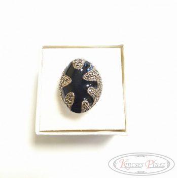 Ezüst gyűrű fekete 57-es