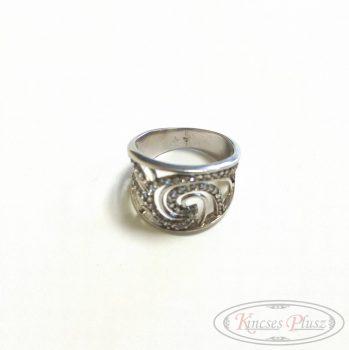Ezüst gyűrű ródiumos 54-es