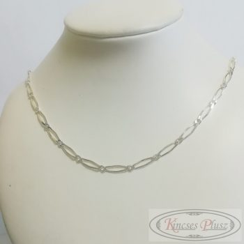 Ezüst lánc unisex fazon 55cm