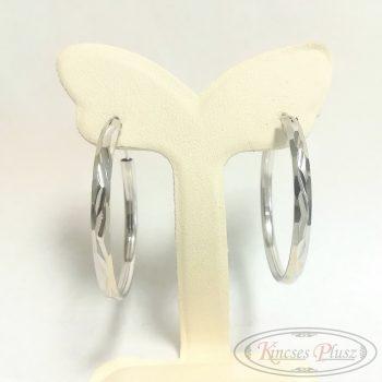 Ezüst fülbevaló karika 3,5cm átmérő