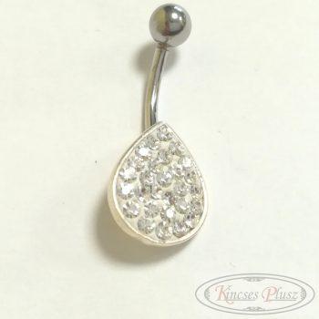 Ezüst piercing csepp