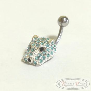 Ezüst piercing párduc