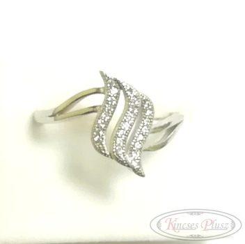 Ezüst gyűrű sokköves 58'