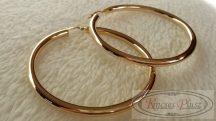 Arany karika fülbevaló sima 5 és fél cm átmérőjű