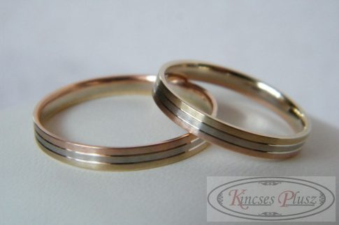 Három színű arany karikagyűrű