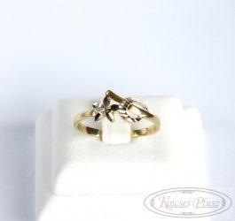 Arany gyűrű fehér arannyal 56os méret
