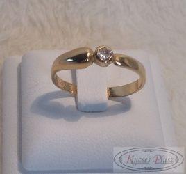 Egyköves arany gyűrű 55-ös méret