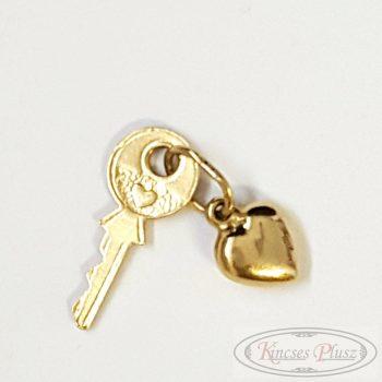 Arany medál kulcs+szív