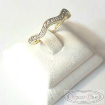 Arany gyűrű sokköves 57,5'