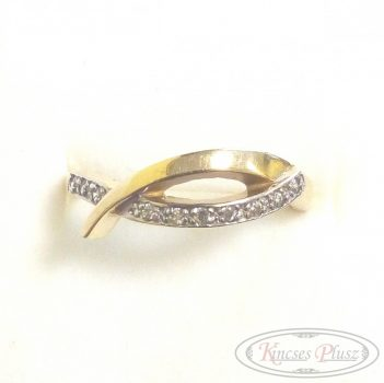 Arany gyűrű sokköves 53'