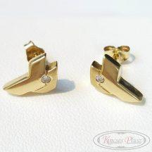 Arany fülbevaló bedugós