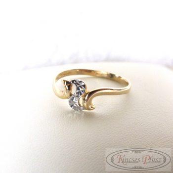Arany gyűrű kétszínű 55'