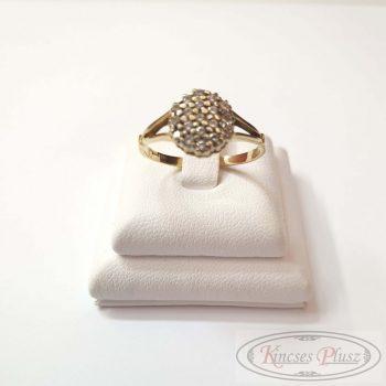 Felújított arany gyűrű sokköves 56'