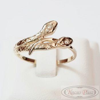 Felújított arany gyűrű 55' kígyó