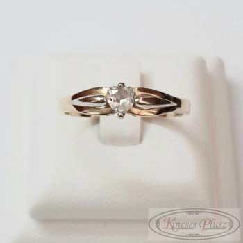 Felújított arany gyűrű 54' szív köves