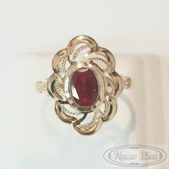 Arany gyűrű 61' piros köves
