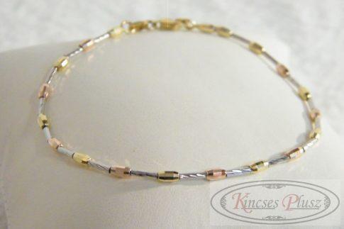Arany karlánc három színű 18 cm -es