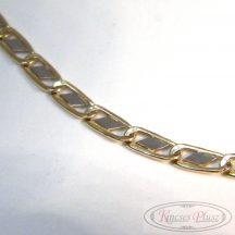 Arany nyaklánc kétszínű 55 cm hosszú