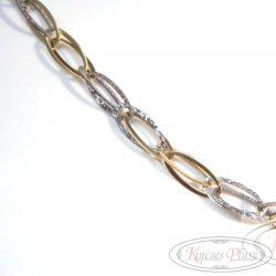 Arany nyaklánc kétszínű 44 cm hosszú