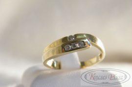 Felújított köves arany gyűrű 55-ös méret