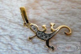 Arany gekkó köves medál