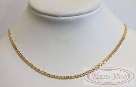 Arany nyaklánc mona lisa fazonban 45 cm hosszú