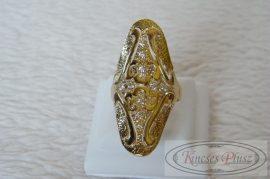 Hosszúfejű arany gyűrű 63-as méret