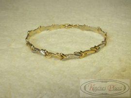 Arany karlánc stiftes kétszínű 19 cm hosszú