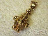 Arany bohóc medál 3 cm hosszú