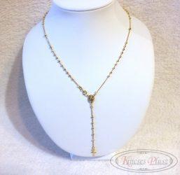 Arany rózsafüzér 45 cm hosszú + 7 cm a lógós része