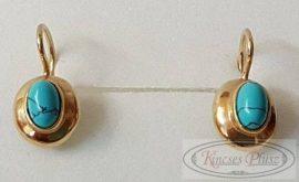 Felújított türkiz köves arany fülbevaló