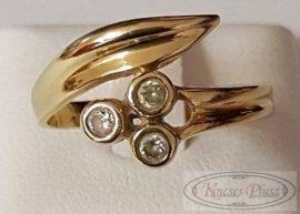 Felújított sokköves arany gyűrű 54-es méretben