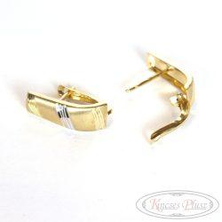 Arany kétszínű francia kapcsos fülbevaló