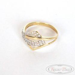 köves arany gyűrű 56 os