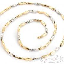 Kétszínű arany nyaklánc 60 cm-es hosszban