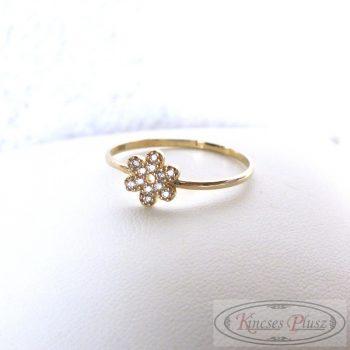 Arany gyűrű virágos köves