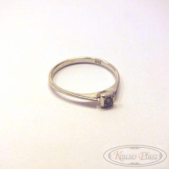 Felújított, használt fehér arany gyűrű egyköves 53-as méret