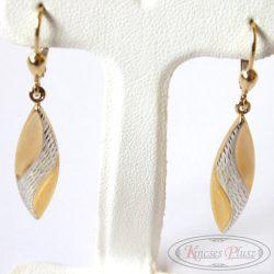 Arany lógós fülbevaló kétszínű