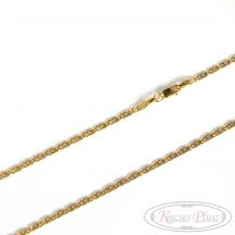 Arany nyaklánc vékony Charles fazon 55cm hosszú